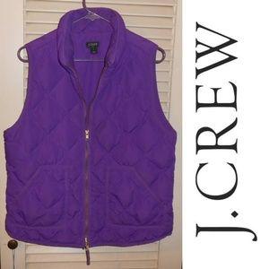 J Crew DOWN puffer  vest jacket size Large